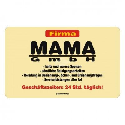"Frühstücksbrettchen ""Firma Mama GmbH"""