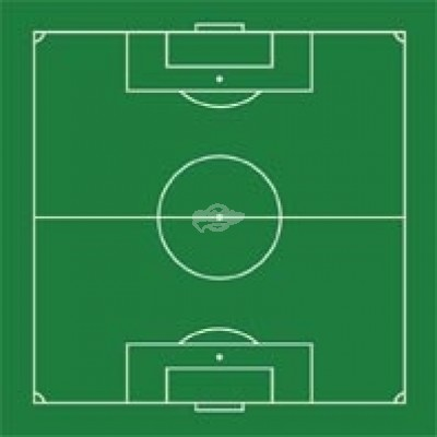 "Kühlschrankmagnet ""Fußballfeld"""