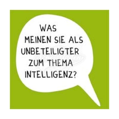 "Kühlschrankmagnet ""Intelligenz"""