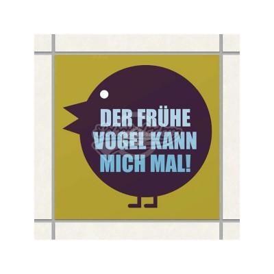 """Fliesen-Sticker """"Früher Vogel"""""""