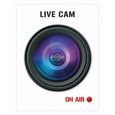 """Türspion-Sticker """"Live Cam"""""""
