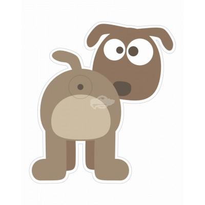 """Türspion-Sticker """"Dog"""""""