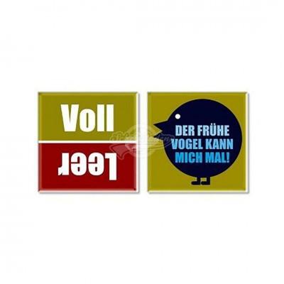 """Glasuntersetzer """"Voll/Leer & Vogel"""" - 2er Set"""