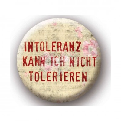 "Button XXL ""Intoleranz"""