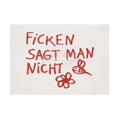 "Postkarte ""Ficken sagt man"""