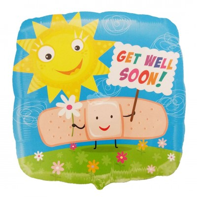 "Folienballon Get Well Soon ""Sonne"" 