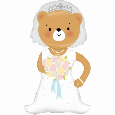 "Folienballon | 43"" Linky Bride Bear 