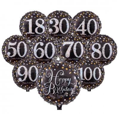Folienballons Sparkling Birthday versch. Designs
