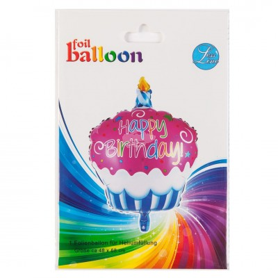 "Folienballon Happy Birthday ""Cupcake"" 