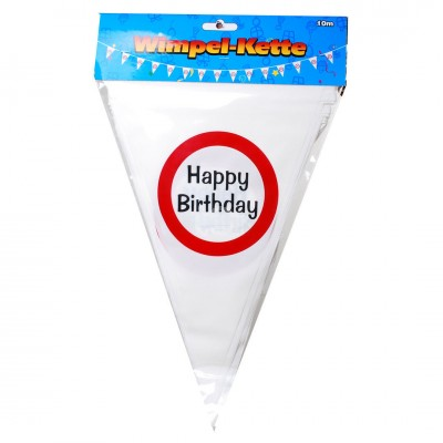 "Geburtstags Wimpel-Girlande ""Happy Birthday"""
