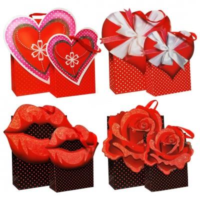"""Geschenk-Tasche """"Liebe"""" 2-tlg - versch. Motive Herz"""