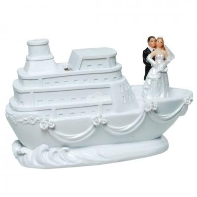 """Spardose """"Brautpaar auf Schiff"""" Brautpaar Hochzeitspaar"""