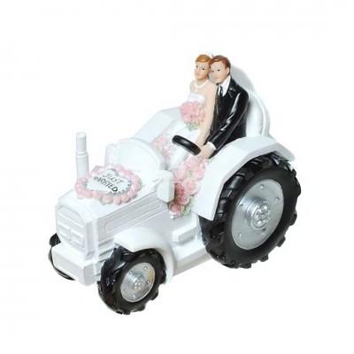 """Spardose """"Hochzeitspaar auf Traktor"""""""