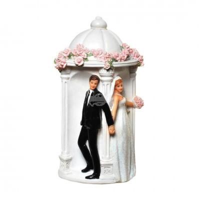 """Spardose """"Pagode"""" mit Hochzeitspaar"""