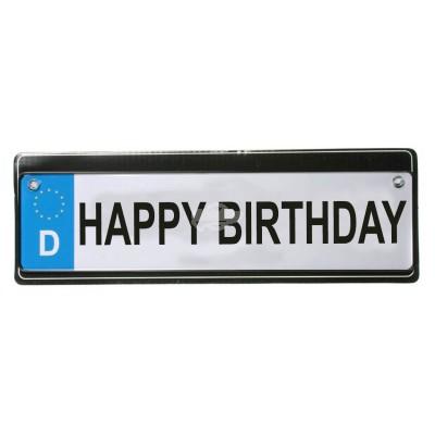"""Kennzeichen """"Happy Birthday"""" mit Saugnapf"""