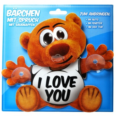 "Schild Bärchen ""I love You"""