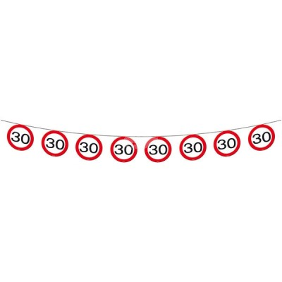 "Geburtstags - Schilder-Girlande ""30"""