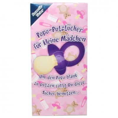 """Kosmetiktücher in Geschenkbox """"POPO Putztücher für Mädchen"""""""