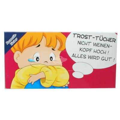"""Kosmetiktücher in Geschenkbox """"Trost Tücher"""""""