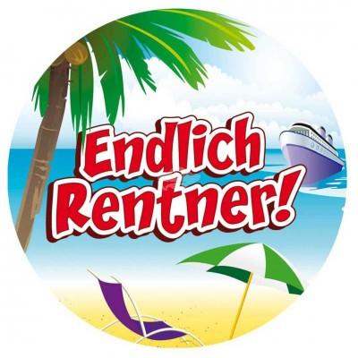 """Riesenschild """"Endlich Rentner"""""""