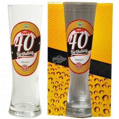 "Bierglas ""40 - Happy Birthday"""