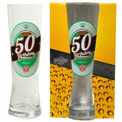 "Bierglas ""50 - Happy Birthday"""