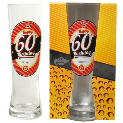 "Bierglas ""60 - Happy Birthday"""