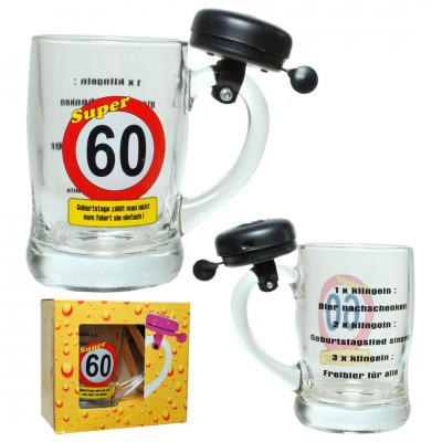 "Bierkrug mit Klingel ""60"""