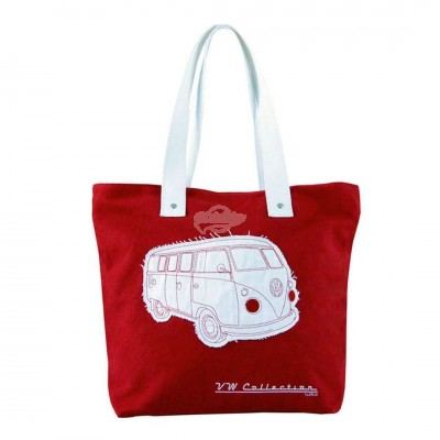 "VW Bulli Shopper Tasche ""Canvas"" - rot"