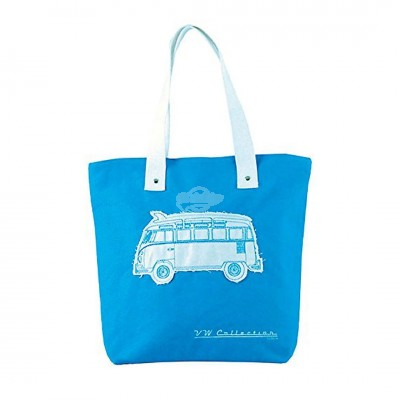 "VW Bulli Shopper Tasche ""Canvas"" - blau"
