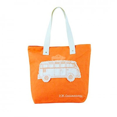 "VW Bulli Shopper Tasche ""Canvas"" - orange"