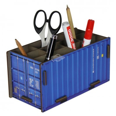 "Werkhaus ""Container Stiftebox"", blau (co10-11)"
