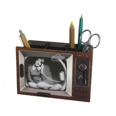 Stiftebox ''Fernseher'' - Braun