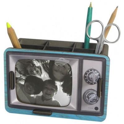 """Werkhaus """"Stiftebox Fernseher"""", blau (pp8208)"""
