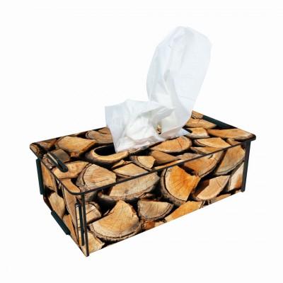 Tissue- Box Kosmetikbox ''Holz''