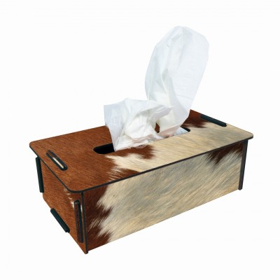 """Werkhaus TissueBox Kosmetikboxspender, """"Kuhfell"""" (pp9499)"""