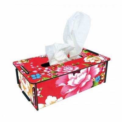 """Werkhaus TissueBox Kosmetikboxspender, """"bunte Blumen"""" (pp9503)"""