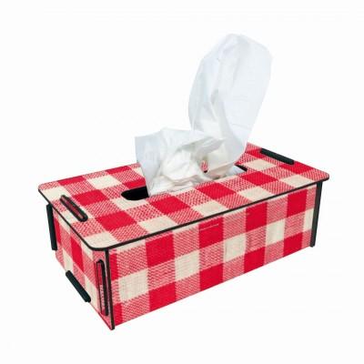 Tissue- Box Kosmetikbox ''Kariert''