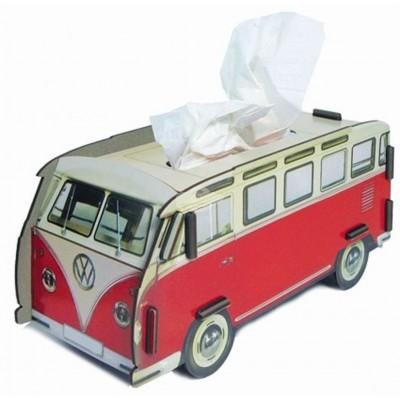 "Werkhaus TissueBox Kosmetikboxspender, ""VW-Bus Rot"" (pp9808)"