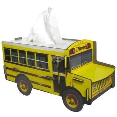 """Werkhaus TissueBox Kosmetikboxspender, """"Schoolbus"""" (pp9809)"""