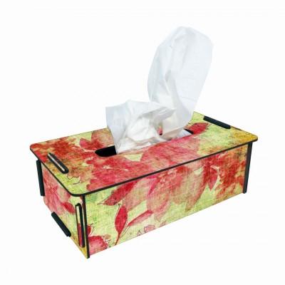 """Werkhaus TissueBox Kosmetikboxspender, """"rot/gelb Blüten"""" (pp9904)"""
