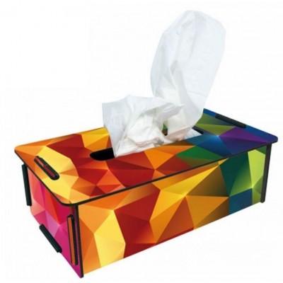 """Werkhaus TissueBox Kosmetikboxspender, """"Prisma bunt"""" (pp9948)"""