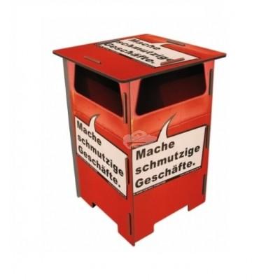 """Werkhaus Photohocker, Beistelltisch, Hocker """"Mache schmutzige Geschäfte"""""""