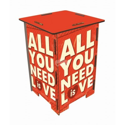 "Werkhaus Photohocker, Beistelltisch, Hocker ""All you need is love"" (sh8255)"