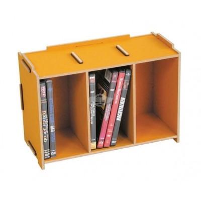 """Werkhaus """"Medienbox - DVD stapelbar"""" - goldgelb"""