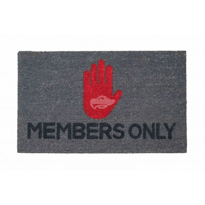 "Fußmatte ""Members only"""
